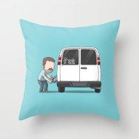 Family Car Sticker Throw Pillow