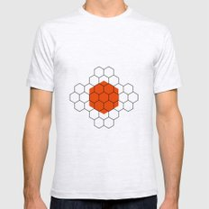 HEXAGON Mens Fitted Tee Ash Grey SMALL