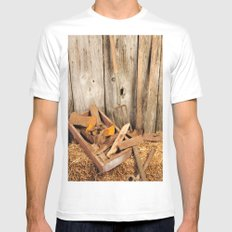 Rusted tools Mens Fitted Tee White SMALL