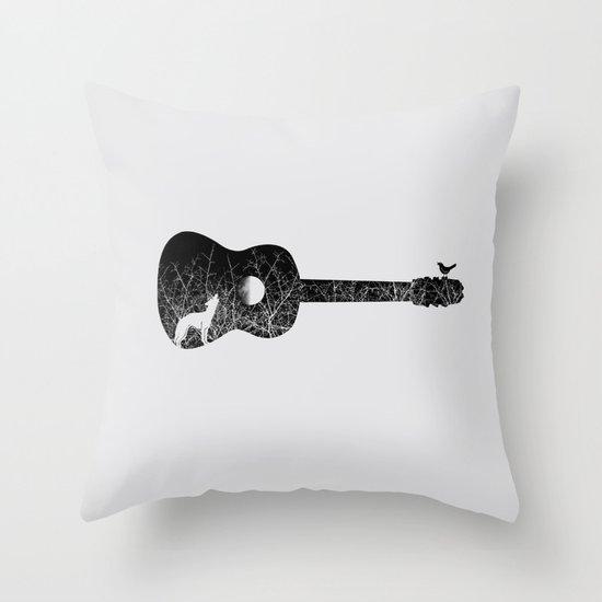 Night sounds Throw Pillow