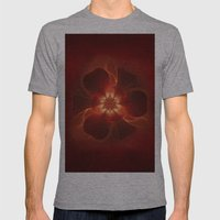 Fire Flower Mens Fitted Tee Athletic Grey SMALL