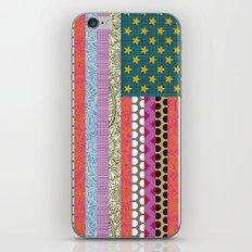 US Beauty flag iPhone & iPod Skin