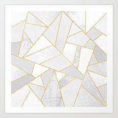 White Stone Art Print