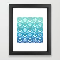 Nautical Knots Ombre Framed Art Print