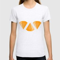 DIAMONDS Womens Fitted Tee Ash Grey SMALL