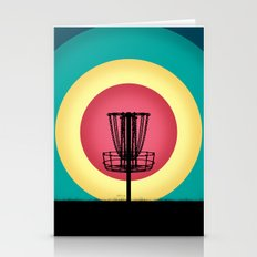 Disc Golf Basket Silhoue… Stationery Cards