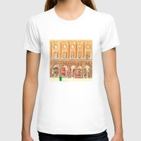 BEDFORD CHAMBERS Womens Fitted Tee White SMALL