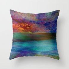 Ocean at Sunset Throw Pillow