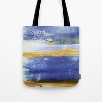 PAINTED WITH THE BLUES Tote Bag