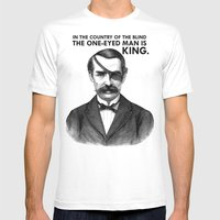 ONE-EYED KING  Mens Fitted Tee White SMALL