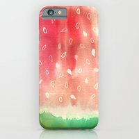 iPhone & iPod Case featuring Watermelon drops by Sasa