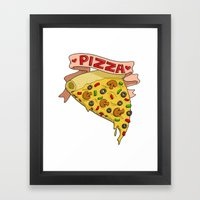 Pizza LOVE Framed Art Print