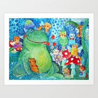The meal of the Toad Art Print