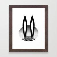 Peekaboo Rabbit Framed Art Print