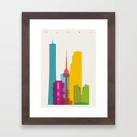 Shapes Of Seoul Accurate… Framed Art Print