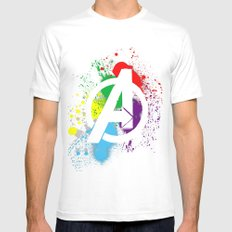 Avenge paint Mens Fitted Tee White SMALL