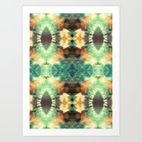 Kaleidoscopic Pattern Pl… Art Print