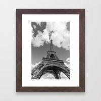 Eiffel Tower - Black and White Framed Art Print