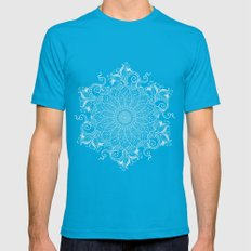 Artic Mandala Mens Fitted Tee Teal SMALL