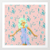 Design Based in Reality Pink Art Print