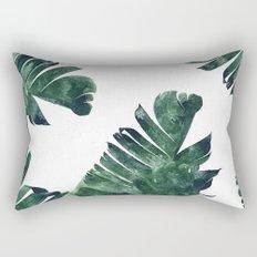 Banana Leaf Watercolor Pattern #society6 Rectangular Pillow