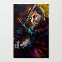 Knight Captain Turned Ad… Canvas Print