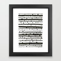 Dots and Lines Framed Art Print