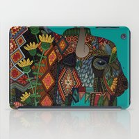 bison teal iPad Case