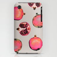 Pomegranate Pattern iPhone (3g, 3gs) Slim Case