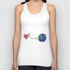 World and Love Unisex Tank Top