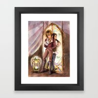 Jareth And Sarah Labyrin… Framed Art Print