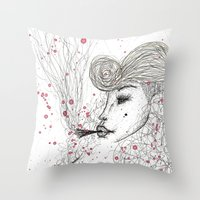 Big Mama Pink Throw Pillow