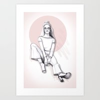 Sit down Art Print