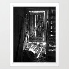 barn interior IV Art Print
