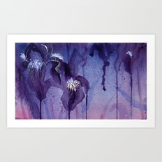 Iris, Blue and Purple Art Print