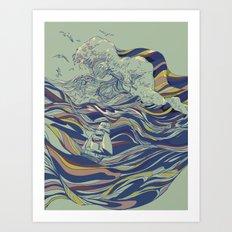 OCEAN AND LOVE Art Print