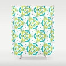 Yellow&blue Shower Curtain