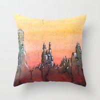 Mountain Stronghold Throw Pillow