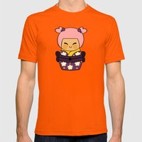 Kokeshi Ayame  Mens Fitted Tee Orange SMALL