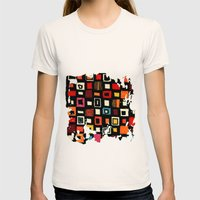 Living In A Box Womens Fitted Tee Natural SMALL