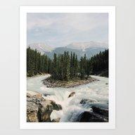 Sunwapta Falls, Jasper N… Art Print