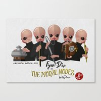The Modal Nodes Canvas Print