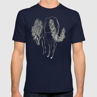 White horse Mens Fitted Tee Navy SMALL