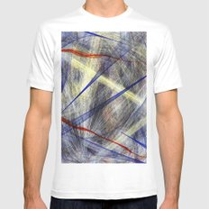 Ink Explosion  SMALL White Mens Fitted Tee