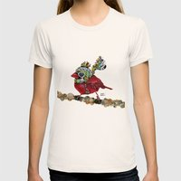 Cardinal Blaze Womens Fitted Tee Natural SMALL