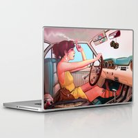 tattoo Laptop & iPad Skins featuring The Getaway by Rudy Faber
