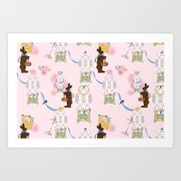 Easter Bunny Factory Art Print