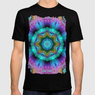 Romantic Kaleidoscope Wi… Mens Fitted Tee Black SMALL