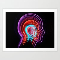 Electric Mind Art Print
