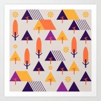 Forest Walk Art Print